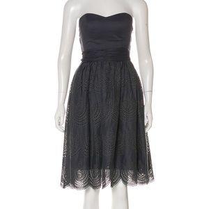 Gray Tibi Strapless Eyelet Dress